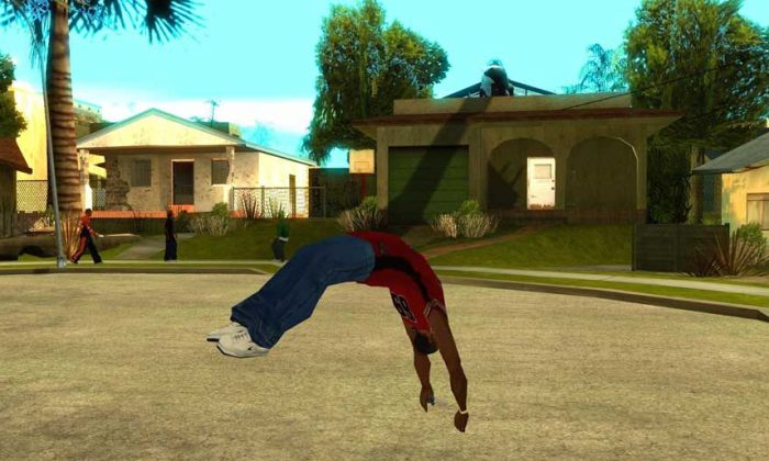 GTA San Andreas oyununda parkur