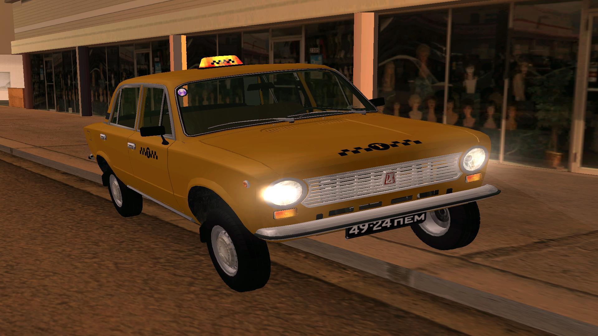 GTA SA taxi əlavədən sonra fotosesiya